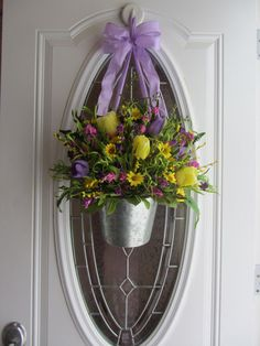 spring and easter decor | Spring Wreath - Easter Wreath - Tulip Wreath Decor - Spring Decoration ...