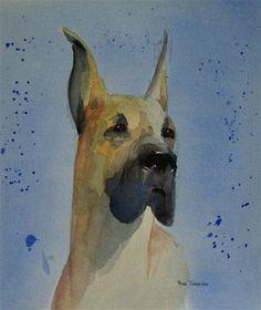 """Great Dane"" by Rose Dobbins"