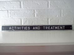 VTG 1970s Aluminum Metal Industrial Sign Asylum Hospital Activities Treatment #2 #Industrial Industrial Signs, Metal Industrial, Aluminum Metal, Asylum, 1970s, Activities, Ebay, Insane Asylum