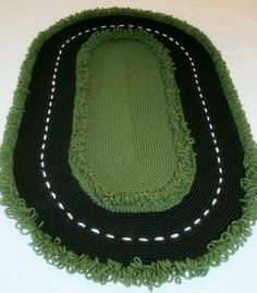 Racetrack Rug (free crochet pattern -- must make for my little boy when he's old enough to play with cars :)