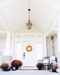 Image may contain: table and indoor Custom Home Designs, Custom Homes, Pottery Barn Style, Faux Pumpkins, Eclectic Style, Season Colors, Front Porch, Fall Decor, Beautiful Homes
