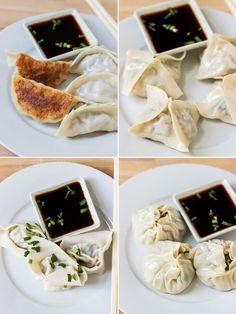 How to Fold and Wrap Dumplings into 4 Different Shapes | www.noshon.it | #diy #dumplings