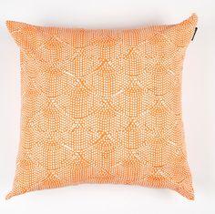 Printed Scallops Pillow Cover – Papaya