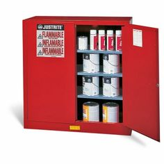 YEAH we need a few of these. Justrite® Combustibles Safety Cabinet