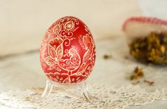 Wax Embossed Easter Egg Traditional Design by ArtSenseBoutique