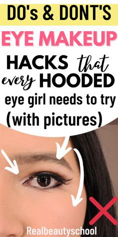 Eyeshadow For Hooded Eyes, Hooded Eyelids, Eyeshadow Basics, Simple Eyeshadow, Simple Eye Makeup, Makeup Eyeshadow, Eyeshadows, Deep Set Eyes Makeup, Makeup For Small Eyes