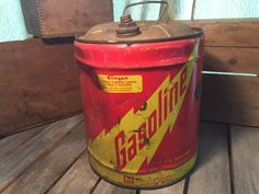 Vintage Midwest Company Gas Can by UpTheAntiqueCo on Etsy