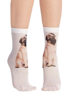 Tabby and You Know It Socks in Pug | Mod Retro Vintage Socks | ModCloth.com