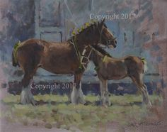 'Ready for the Showring' Original Oil by Colin Allbrook