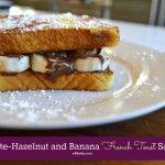 Chocolate-Hazelnut and Banana Breakfast Sandwich