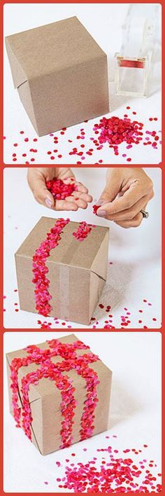 @Jò in Wonderland Cho / Oh Joy! shows us how to use confetti to make gifts stand out.