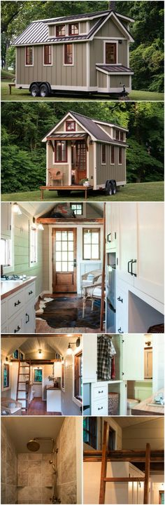 """A lot of tiny houses go for the whole """"rustic"""" log cabin feel. That is something I really like, but it is not the style that everyone is looking for. Maybe you enjoy more of a modern suburban look and feel; you just want to scale back on size. If so, you will love the flagship house constructed by Timbercraft Tiny Homes."""