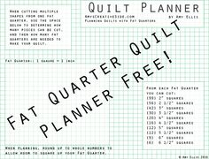 Fat Quarter Quilt Planner - AmysCreativeSide.com