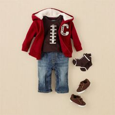 For The Ultimate Infant Football Fan! I MUST hunt this outfit down for Ares!! Grandma is on a quest!!