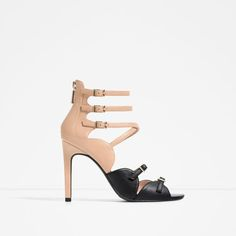 Image 1 of HIGH HEEL SANDALS WITH BUCKLES from Zara