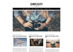 Simplicity - A WordPress Theme by Beautiful Dawn Designs on Creative Market