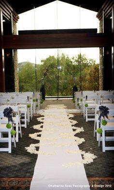 Inside Ceremony Site At Dove Canyon Country Club Wedding Rehearsal Dinners