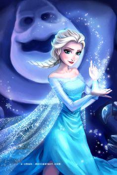 Elsa the Snow Queen and Marshmallow the Snowman Monster Disney Pixar, Disney And Dreamworks, Disney Cartoons, Disney Art, Jack And Elsa, Frozen Elsa And Anna, Disney Frozen Elsa, Disney Princess, Frozen Queen