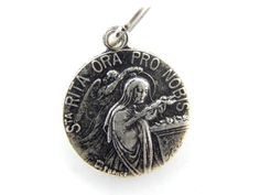 Vintage KARO Signed Saint Rita of Cascia Catholic Medal - Patron Saint of Mothers - Guardian Angel Religious Charm by LuxMeaChristus on Etsy