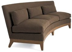 Curved Intermezzo Armless Sofa