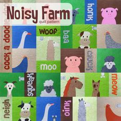 Make a noisy farm animals quilt with this easy applique pattern designed especially for beginners. There are links to videos teaching you all the skills you'll need.