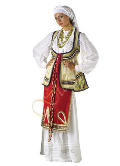 Greek Products : Traditional Greek Costumes for Adults : Roumeli Costume for Women Style 641006 Adult Costumes, Costumes For Women, Dance Costumes, Greek Costumes, Folk Costume, Headpiece, Vintage Fashion, Princess Zelda, Traditional