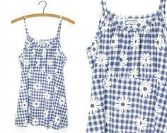 90s babydoll top L XL / 90s daisy dress daisy by FindsAllKinds
