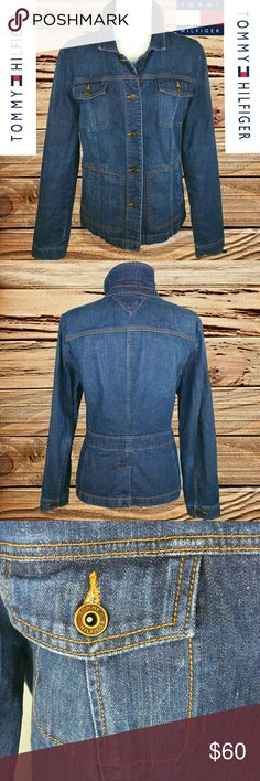 TOMMY HILFIGER - VINTAGE DENIM JACKET! TOMMY HILFIGER - VINTAGE DENIM JACKET!  EVERY ITEM IS DRY CLEANED!  EVERY ITEM IS WRAPPED!  OFFERS ALWAYS WELCOME! :)  BUY TWO OR MORE ITEMS AND SAVE 10%!! Tommy Hilfiger Jackets & Coats