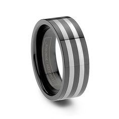 ODYSSEUS 8MM   One of the newest arrivals, this magnificent wedding band combines two scratch resistant materials into a finely crafted work of art. This amazing ring features two tungsten carbide rings encompassed by beautiful black ceramic.