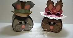 Welcome to Punchin' Up!     Mr. and Mrs. Bunny     Today I'm going to share with you two cute little bunny boxes I created using the Curvy K...