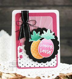 Reverse Confetti | Pineapples Aplenty card by Laurie Schmidlin