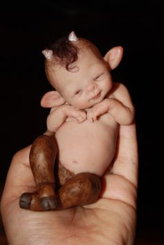 faun and reborn doll - Yahoo Image Search Results Magical Creatures, Fantasy Creatures, Fairy Land, Fairy Tales, Fantasy World, Fantasy Art, Kobold, 3d Figures, Baby Fairy