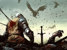 fantasy illustration war soldier medieval
