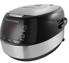 Buy this Elechomes CR502 10 Cups Electric Rice Cooker 16-Modes LED Touch Control Stainless Steel Multi-Cooker with Steamer and Warmer with deep discounted price online today.