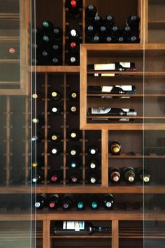 Modern wine cellar; Michael Fullen Design Group.