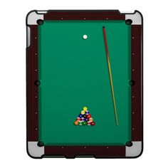 Clever!  Pool Billiard Table iPad Case
