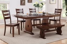 Poundex 6pc Dining Set with Bench