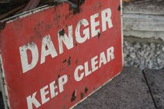 Vintage wooden danger sign/plauqe by BHiltonSalvage on Etsy
