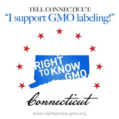 Tell Connecticut - I want GMO labeling now! http://fooddemocracynow.org/blog/2013/may/7/tell_connecticut_to_label_gmos_now/  There's only a few weeks left in the legislative session in Hartford and we need your help this week to make sure a GMO labeling bill passes this year!  Take Action! http://fooddemocracynow.org/blog/2013/may/7/tell_connecticut_to_label_gmos_now/