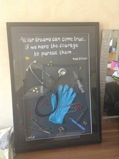 Nursing School Shadow Box definitely making this when I graduate !                                                                                                                                                                                 More