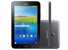 "Tablet Samsung Galaxy E 7.0 8GB Tela 7"" 3G Wi-Fi - Android 4.4 Proc. ARM Cortex A7 Quad Core Câm. 2MP"