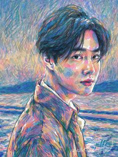 EXO's leader Suho will make his solo debut on March Yesterday they released one teaser photo, and today four more. As the title of his debut is Self-Portrait, the teaser photos actually look like Suho Exo, Hue, Self Potrait, Exo Album, Exo Fan Art, Kim Junmyeon, Kpop Fanart, Portrait Art, Mamamoo