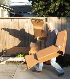 Giant cardboard robot arms (for giant cardboard robot hugs) / Boing Boing