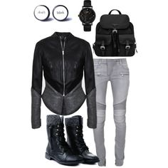 A fashion look from February 2015 featuring Balmain jeans, Prada backpacks and Timex watches. Browse and shop related looks.
