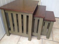 Upcycling is what I love the most. Sometimes to bring furniture back to life you just need to bring the best in it, take a look at this nest of tables. #OMHGWW