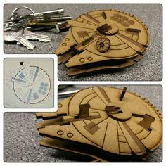Laser cut Millennium Falcon. 2mm MDF. #starwars