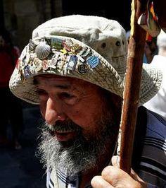 """""""Pepe, «el peregrino de la Rioja». Has pilgrimaged to Santiago de Compostela for the past 27 years. He arrives each year for the celebration on the 25th of July, El día de Galicia. ¡Feliz día de Galicia!"""""""