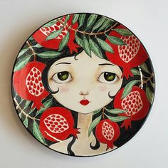 Best 12 Discover the coolest pcprettyplates images Pottery Painting Designs, Pottery Designs, Pottery Art, Wall Art Designs, Paint Designs, Ceramic Painting, Ceramic Art, Plate Drawing, Plate Art