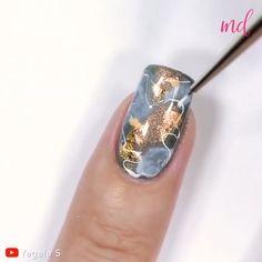 Nail Art Designs Videos, Creative Nail Designs, Nail Art Videos, Creative Nails, Diy Nails, Cute Nails, October Nails, Black Acrylic Nails, Manicure E Pedicure