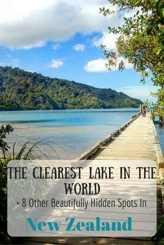 Did you know the clearest lake in the WORLD is in New Zealand!! Here's 8 more beautifully hidden spots in New Zealand you need to visit!